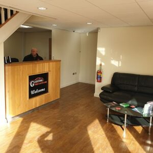 Car Tyres Garage Reception area in York - Gladstone Tyres and Autocare York